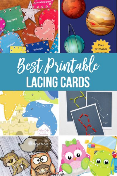 Lacing Cards are a perfect fine motor activity that is easily taken on the road or used as individual activities for kids. These printable versions make it simple to find the perfect ones for your kids!