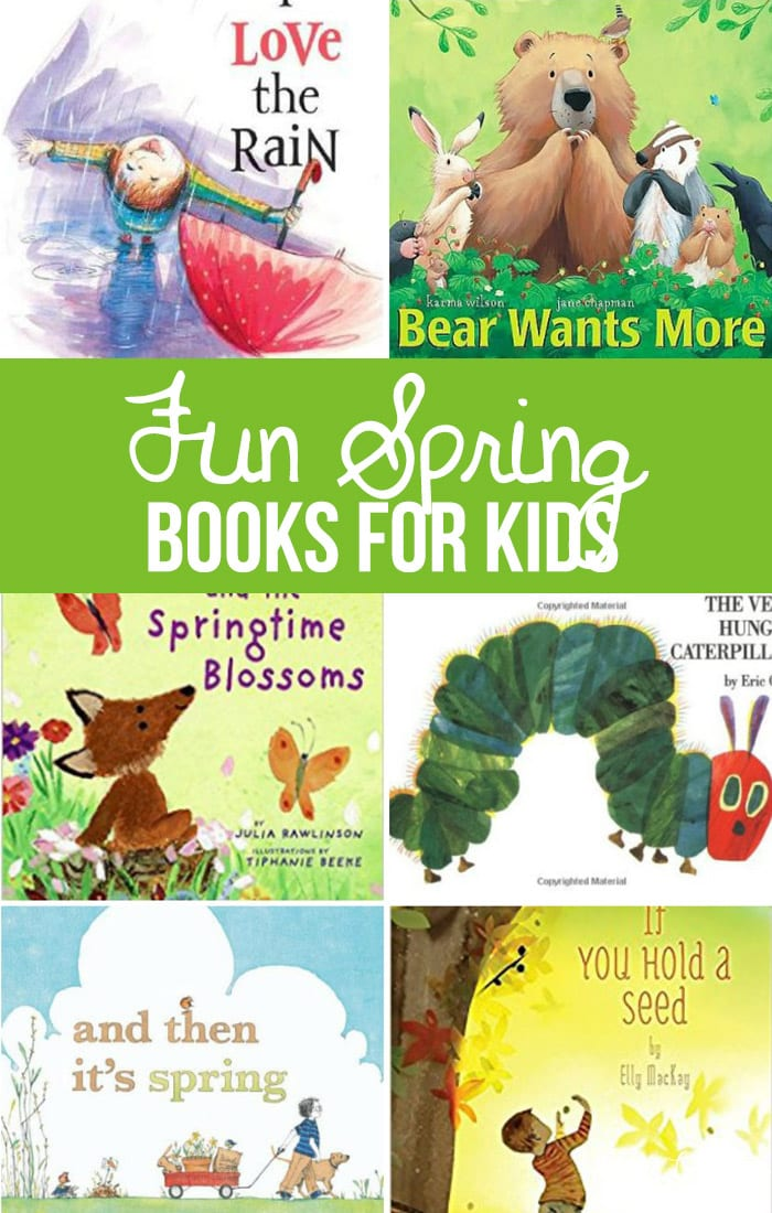 Hello March, I've been looking forward to you and the spring weather that should be arriving soon. Let's get ready with a list of fun spring books for kids that will get your kids ready for spring. Add some great spring activities to get your kids excited about spring and new beginnings.