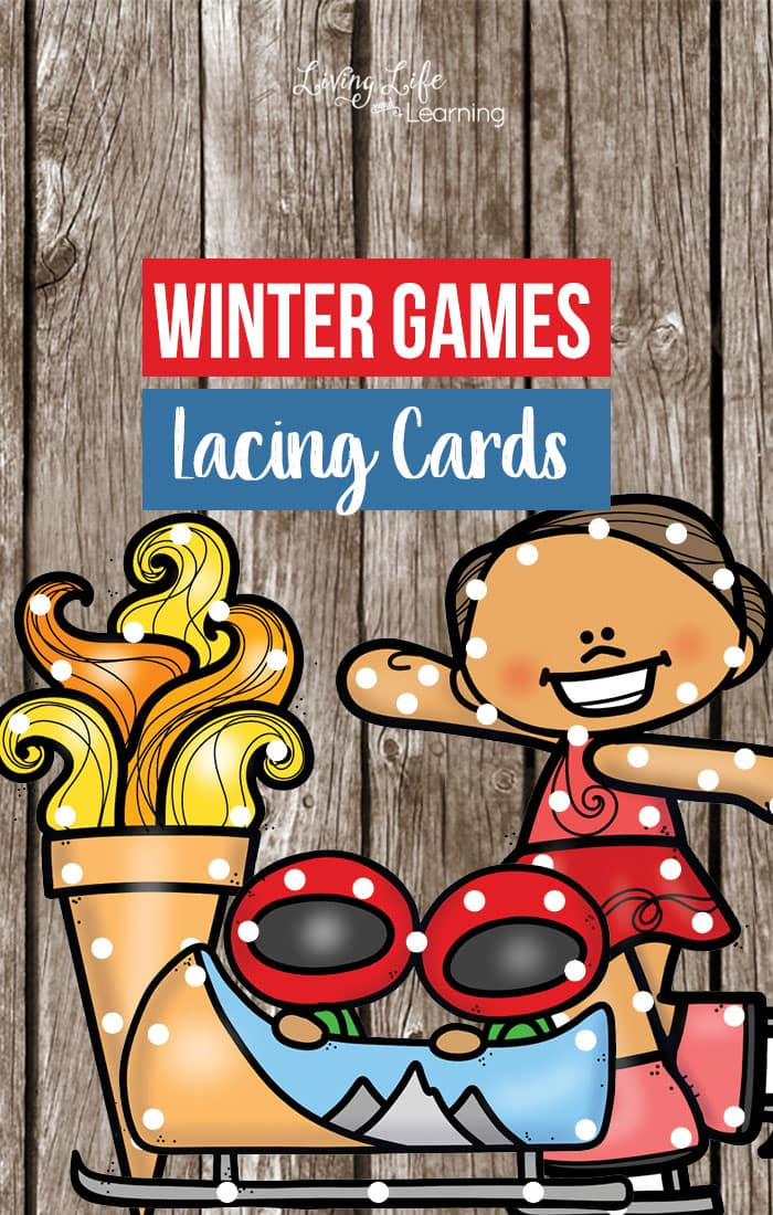 Winter Games Printable Lacing Cards