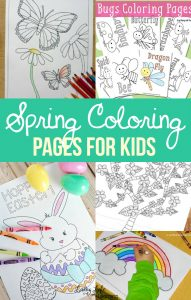 Our favorite Spring Coloring Pages! Fabulous spring rainy day activity or a simple activity to bring outside in the sun. Coloring can assist in pre-writing, strength of hand muscles as well as help increase relaxation and reduce stress.
