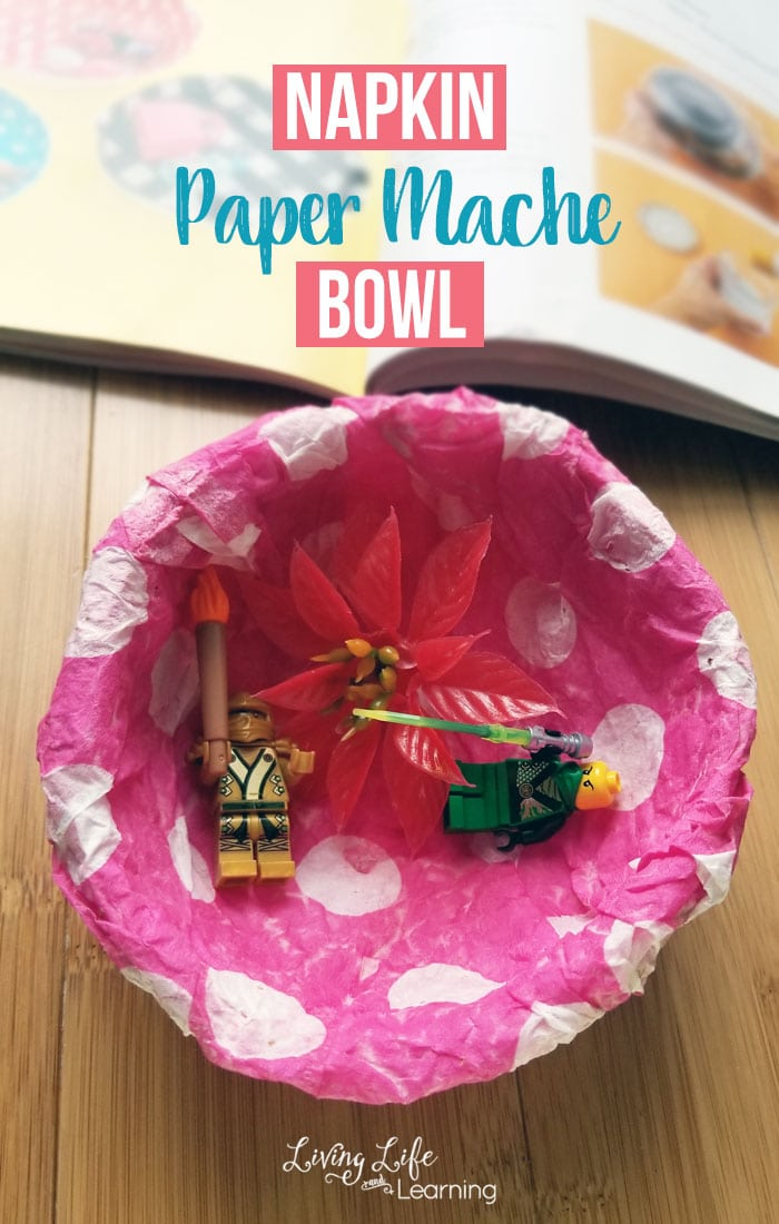 It is time to get crafty, try creating this paper napkin paper mache bowl that your child can use to store their little trinkets. It turns out beautifully and you'll have a proud budding artist who can't wait to show off her project.