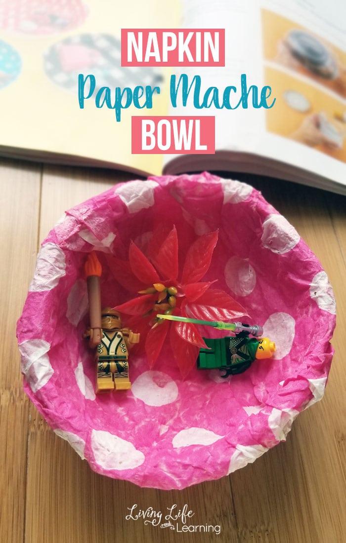 Cute Napkin Paper Mache Bowl