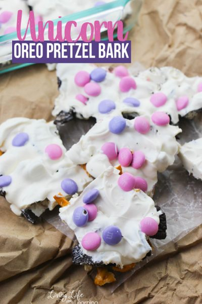 Unicorn Oreo Pretzel Bark Recipe