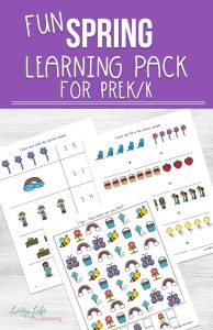 Have fun learning counting, math, letters and writing with these adorable spring learning printables for preschool and kindergarten. Fun addition, subtraction worksheets, patterns, I spy games, letter puzzles and writing worksheets to work on different skills with your kids.