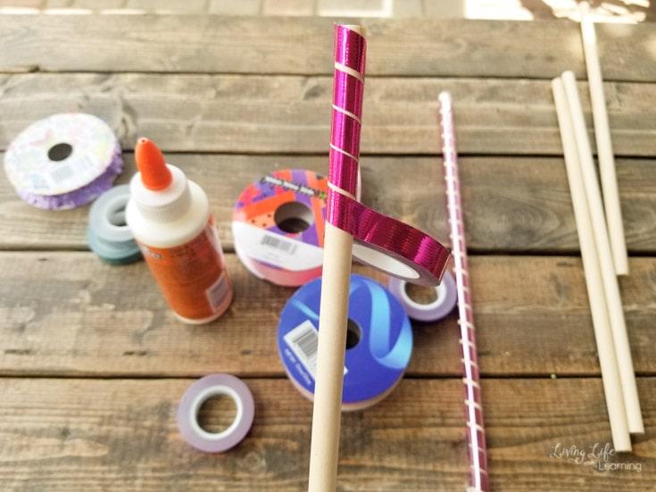 diy princess wand craft. Black Bedroom Furniture Sets. Home Design Ideas