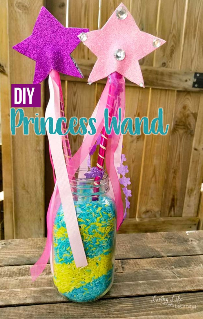 If you're a fan of Nella the Princess Knight, make your own DIY Princess Wand to complete your princess attire that your child will love.