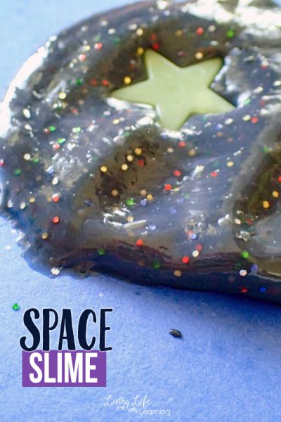 This Space Slime recipe is a perfect alternative to expensive galaxy slime. It is easy to make, fun to play with and will fill your slime loving kids with pure excitement!