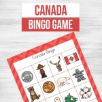 A simple way to encourage learning in a fun way. Kids will love playing Canada Bingo Game on Canada Day! Learning about Canada? Add this printable Canada bingo game to your list, your kids will love it.