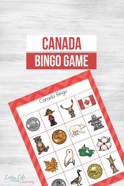 Printable Canada Bingo Game