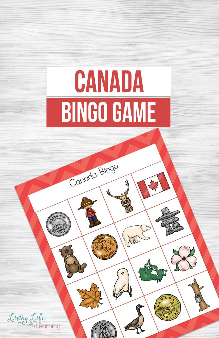 photograph regarding Bingo Chips Printable named A Entertaining Printable Canada Bingo Video game For Small children In the direction of Study Above