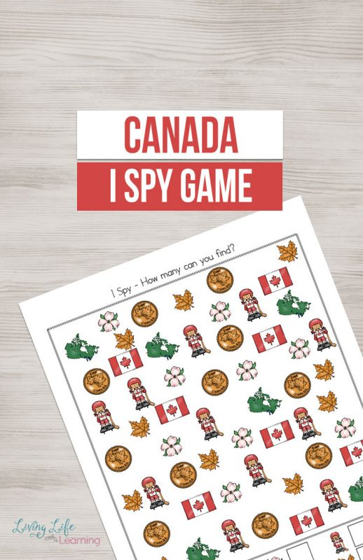 A fun counting activity for Canada Day to help kids learn about various parts of Canada's rich history. Get counting in this fun Canada activity - I spy is an interactive game for any child.