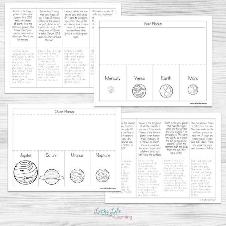 Free Planet Flapbook Printables