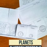 Free Printable Planets Flapbook. Learning about space? A fun way to learn how planets look and fun facts about them. Space lovers will love learning about the different planets in our solar system.