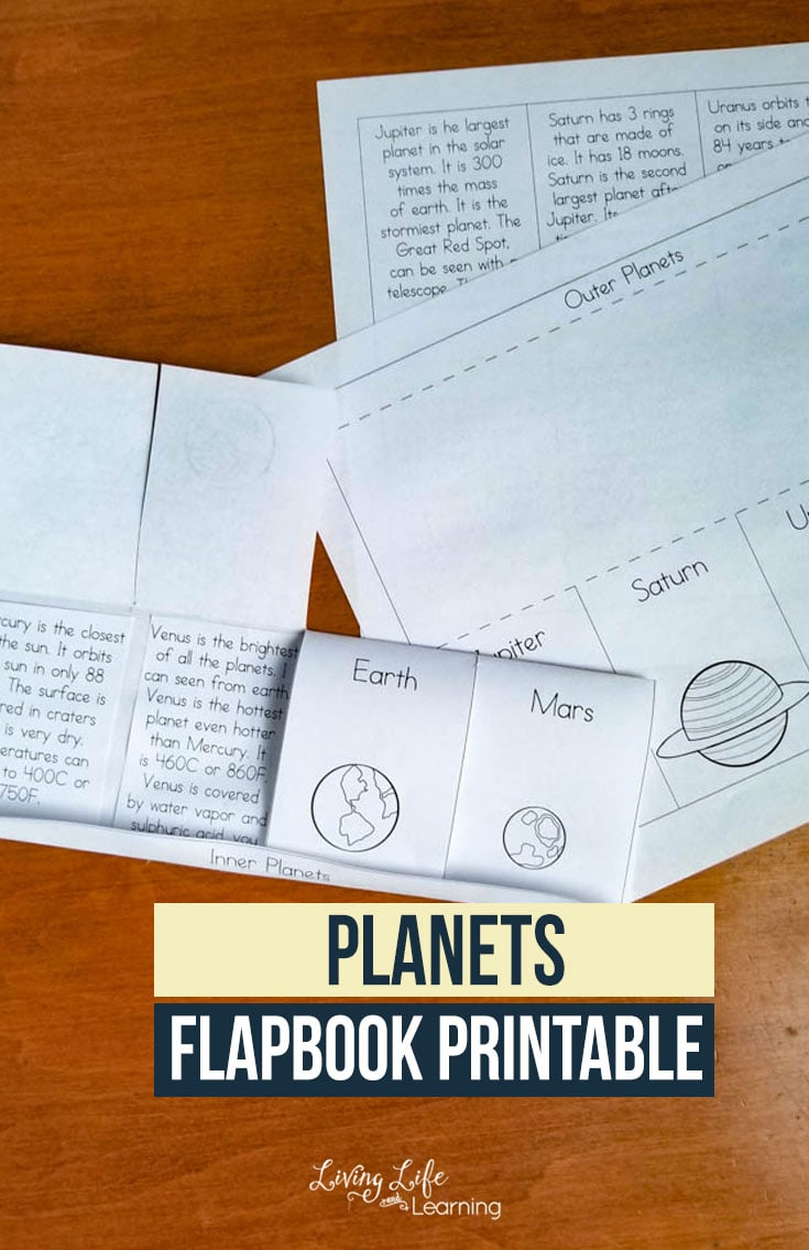 Fun Planets Flapbook Printable