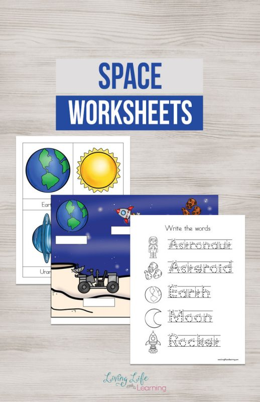 Kids will love these Space Worksheets. They are the perfect way to introduce or continue practicing the solar system, writing, and more.
