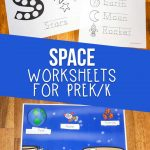 space worksheets for kids