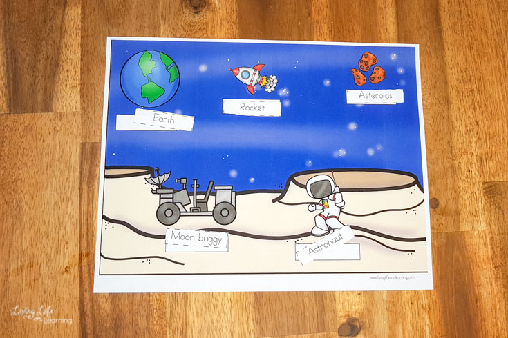 Space Worksheets for Kindergarten