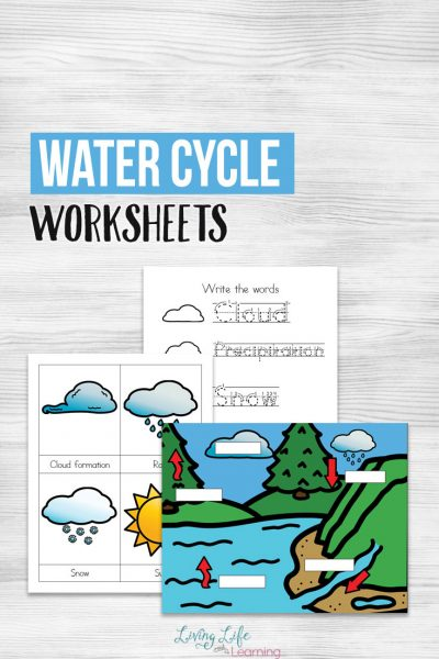Show your kids they cycle that water goes through and how important it is as a resource for humans with these water cycle worksheets for kids. Learn how water evaporates, forms clouds and releases as rain.