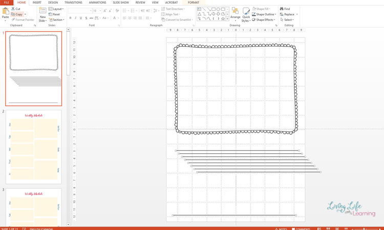 creating printables in powerpoint
