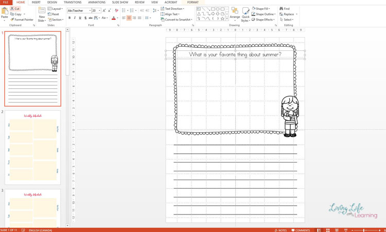Making printables in Powerpoint