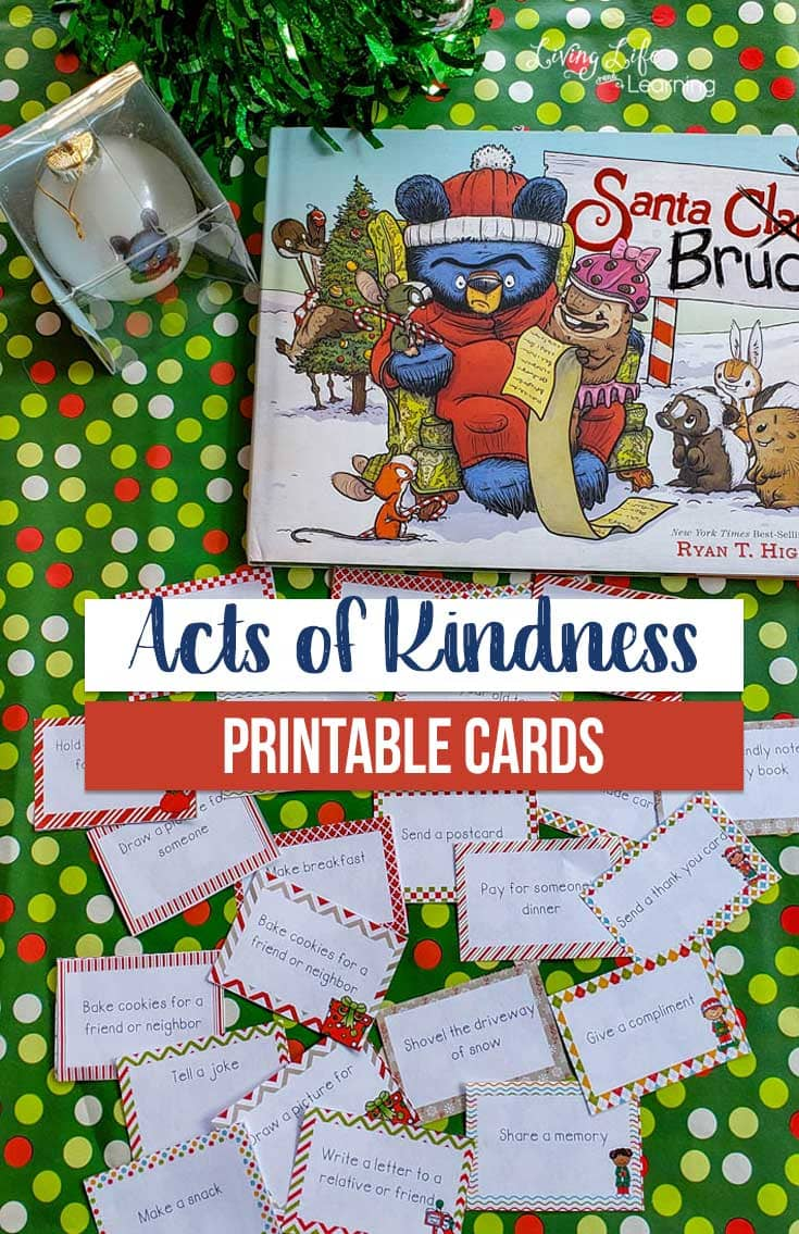 Get into the holiday spirit with these Acts of Kindness Printable Cards Inspired by Santa Bruce - a family favorite for sure.