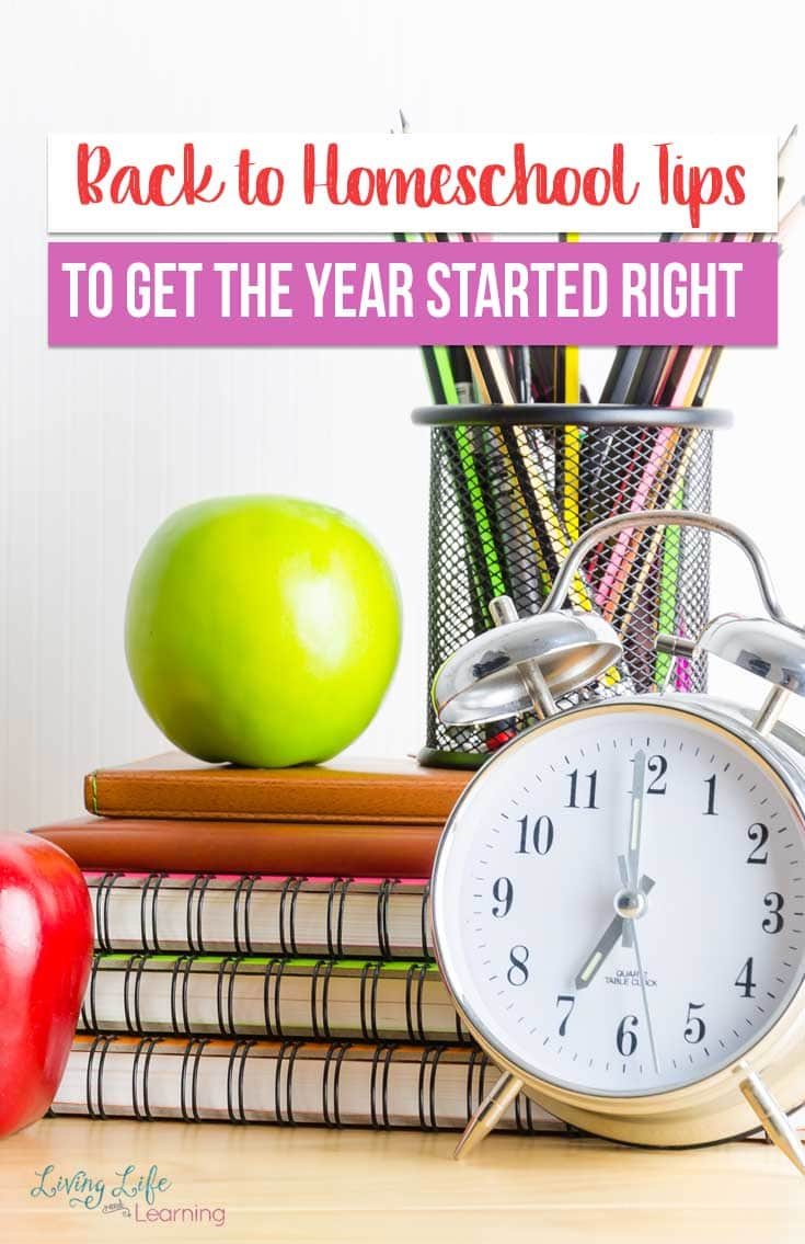 Don't start off on the wrong foot, the best Back to Homeschool Tips to Get the Year Started Right so you can have a great homeschool year with your family.