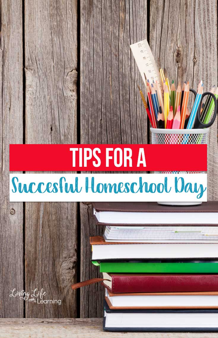 Successful days don't just happen. If you are looking for tips for a successful homeschool day, here are some suggestions on how to wake up and rock it!