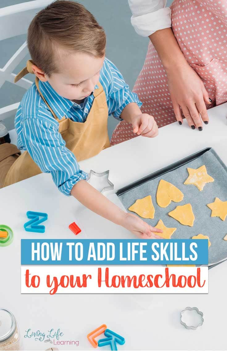 Teaching life skills is something that each and every homeschool educator can do. Here are some tips on how to add life skills to your homeschool lessons!