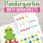 Need some fun kindergarten math worksheets? If your child needs practice with number sense, addition, subtraction and skip counting, grab these!