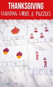 Thanksgiving Counting Cards and Puzzles