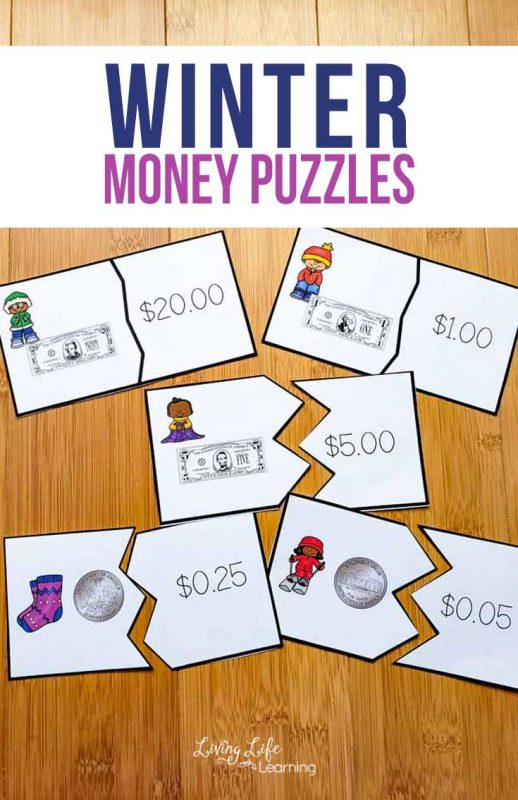 Make learning about money fun with these printable US Money Puzzles for kids so they can indentify coins and dollar bills in no time.
