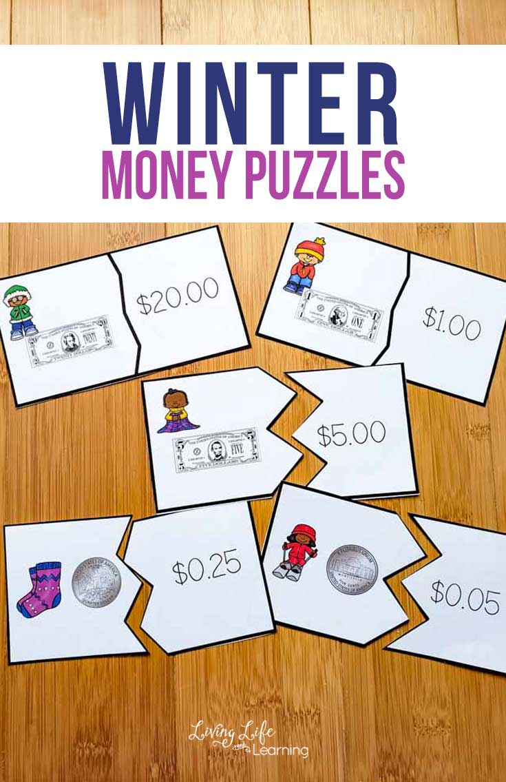 Printable Winter Money Puzzles