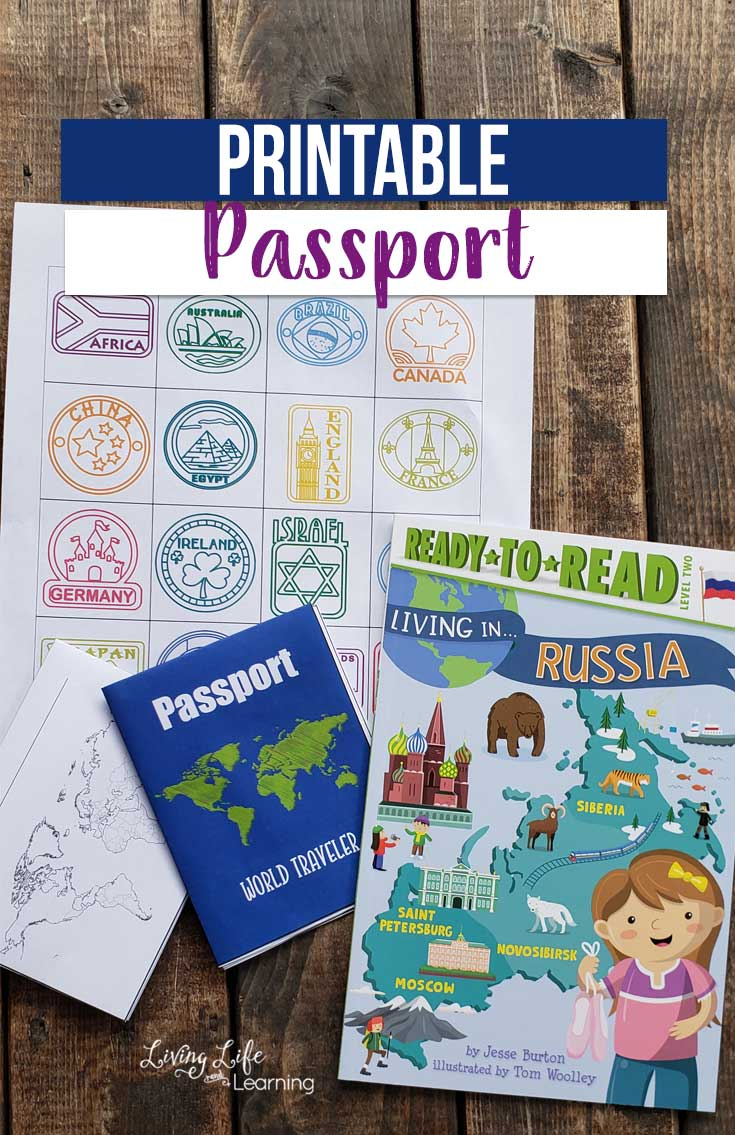 Use this printable passport for kids as you