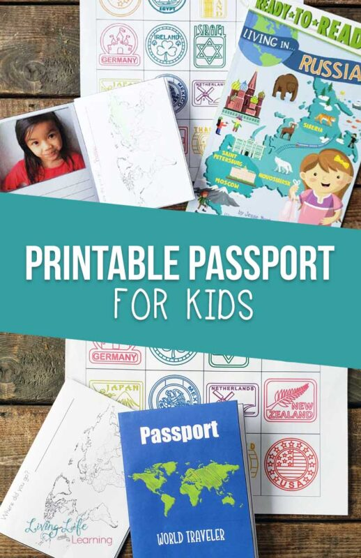 Free printable passport for kids