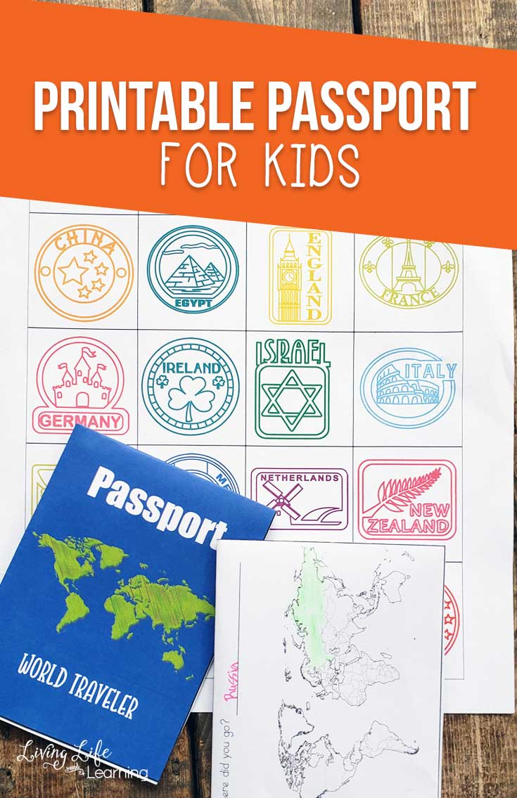 photograph regarding Printable Passport Stamps for Kids called Printable Pport for Youngsters