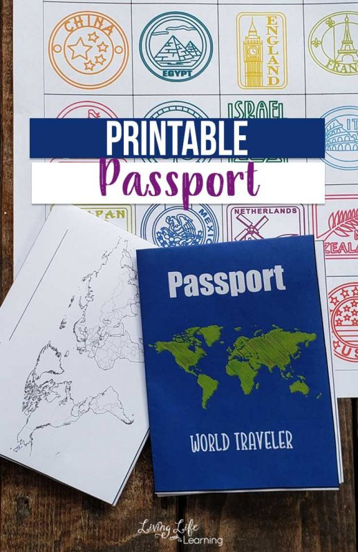 "Use this printable passport for kids as you ""visit"" countries around the world so they can stamp their passport just like a real world traveler. Learning about geography and world cultures can be a blast and keep track by adding printable passport stamps to it. Get it now!"