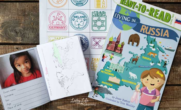 Learn geography with these passport for kids