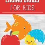 A frugal and fun way to create adorable printable lacing cards for kids so they can practice their fine motor skills while learning through play.