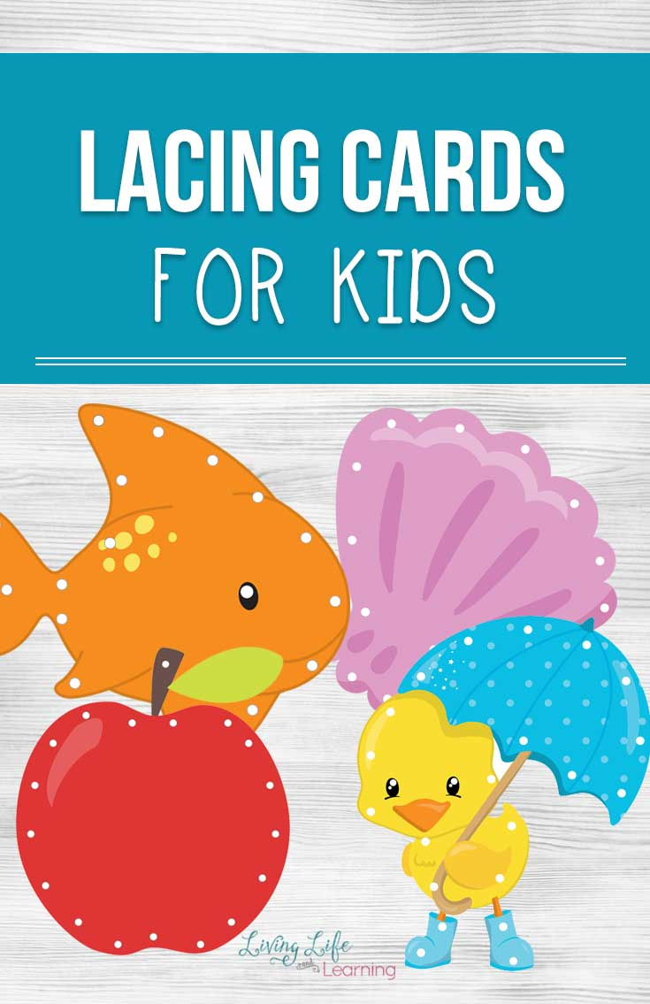 photograph about Printable Cards for Kids titled Printable Lacing Playing cards for Children