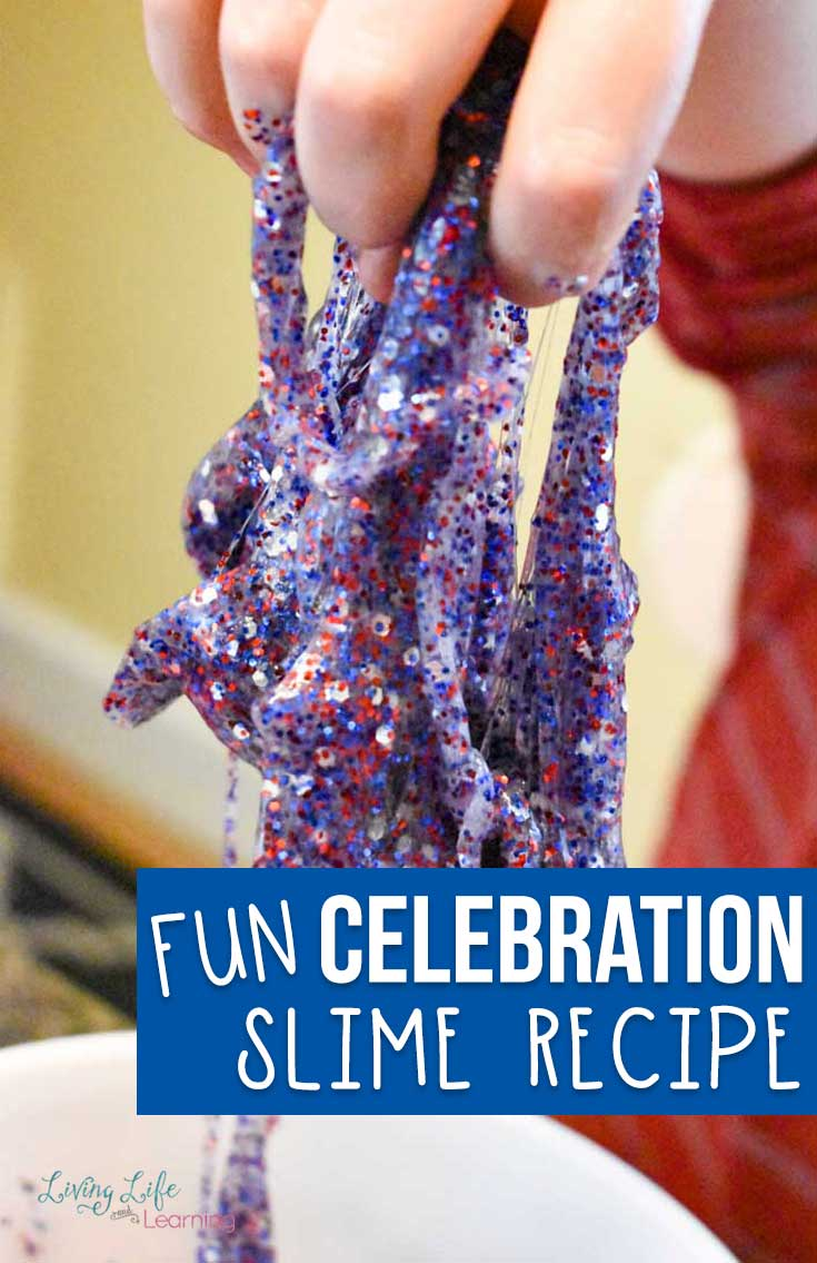You'll love the ease and simplicity of this homemade Celebration slime recipe!