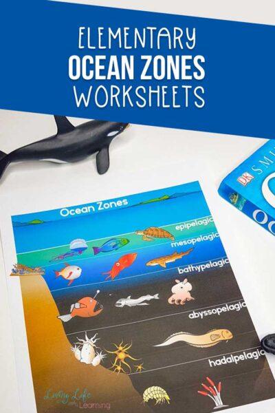 Elementary Ocean Zones Worskheets