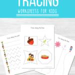 Preschool Tracing Worksheets Bundle
