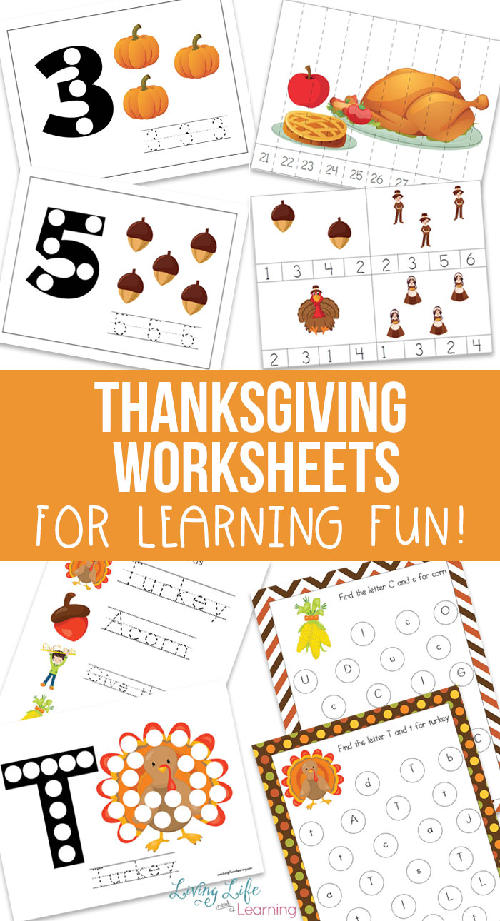 It's Thanksgiving! Need some cute Thanksgiving printables for kids to help them learn? This set of Thanksgiving themed printables are perfect.