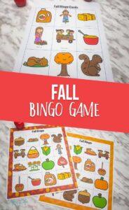Fall Printable Bingo Game