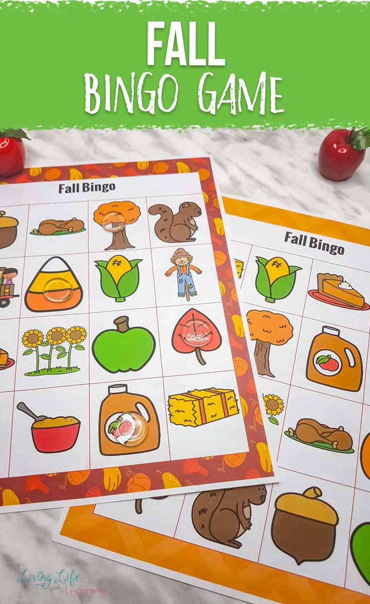 Fall Printable Bingo Game