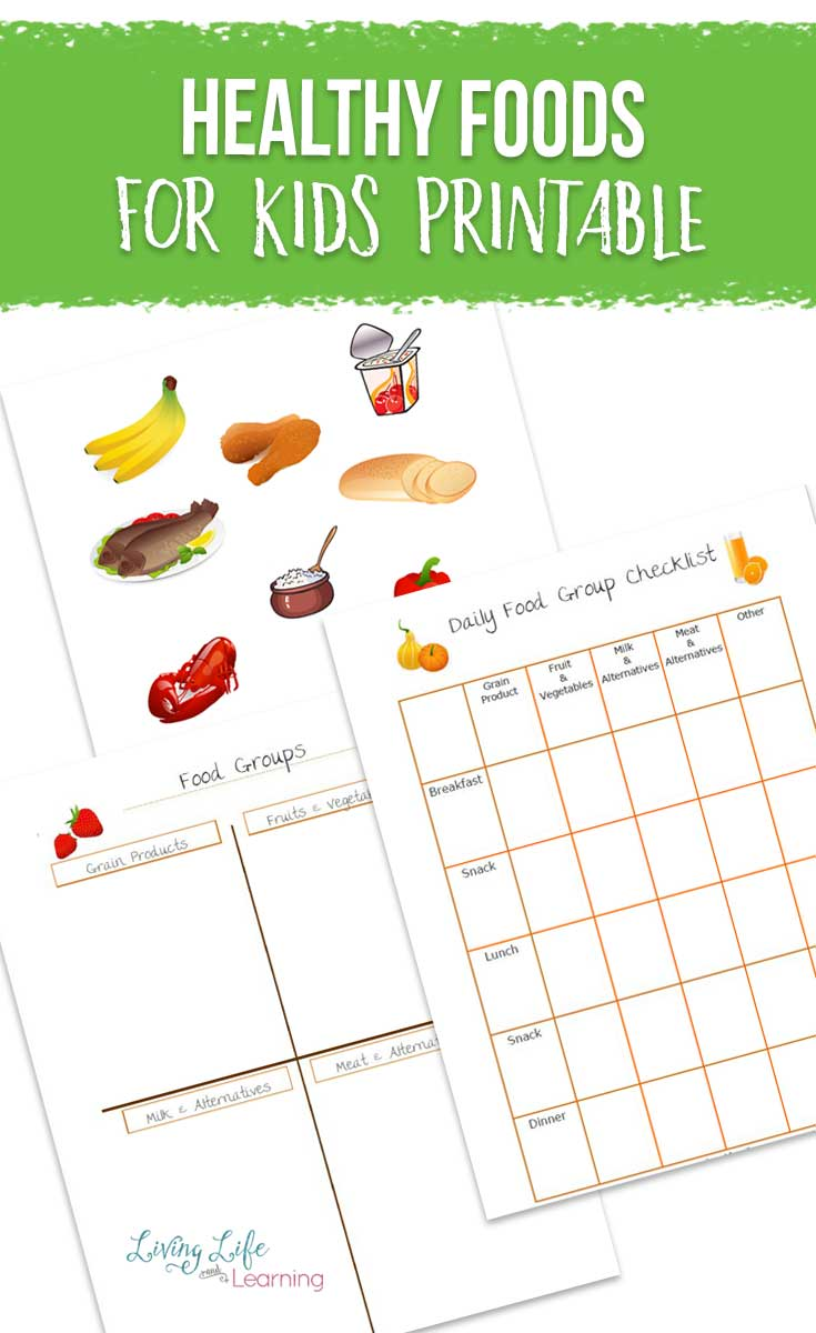 Healthy Foods for Kids Printable
