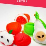 Felt fruit craft: apple, oranges and pears