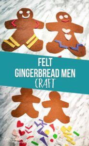 Gingerbread men felt craft