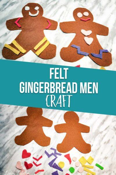 Gingerbread men felt craft
