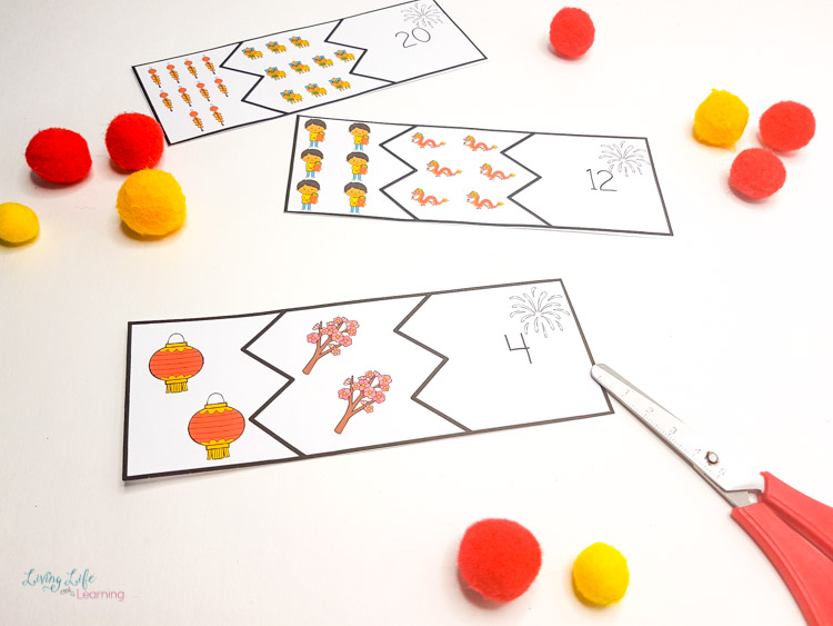 Chinese New year addition puzzles